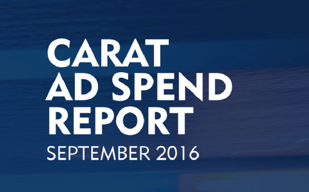 Global ad spend growth in 2017 will reach to US$570.4 bn, at +4.0% y-o-y growth, led by Digital : Carat Report