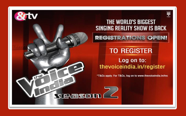 &TV opens up registration for the audition of The Voice India Season 2
