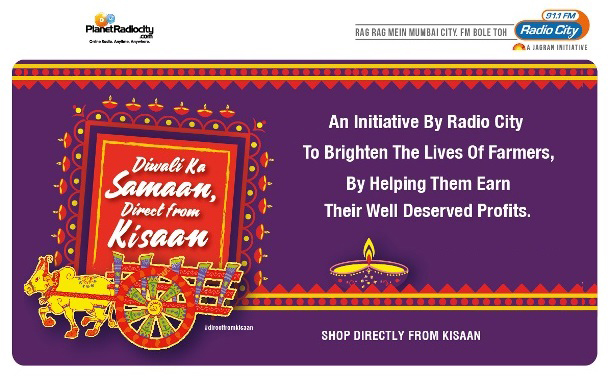Radio City illuminates this Diwali for Maha farmers with 'Diwali ka Saamaan Direct from Kisaan'
