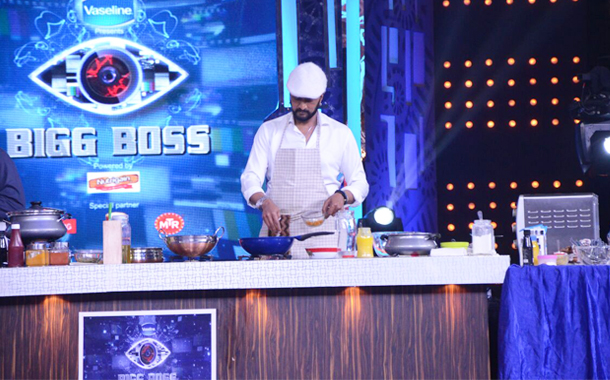 Actor Kiccha Sudeep dons the Chef's cap on the sets of Big Boss Kannada 4