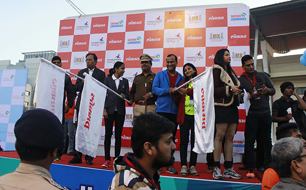 Over 5000 runners participated in Lokmat Aurangabad Marathon