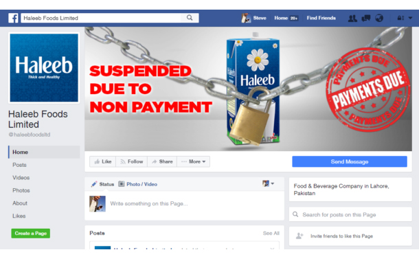 PAK Social agency Viral Edge hacks FB page of Haleeb Foods amid row over un-paid dues