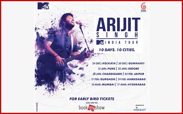 Wizcraft & MTV announces the first ever 10 City-Arijit Singh Live in Concert, The MTV India tour