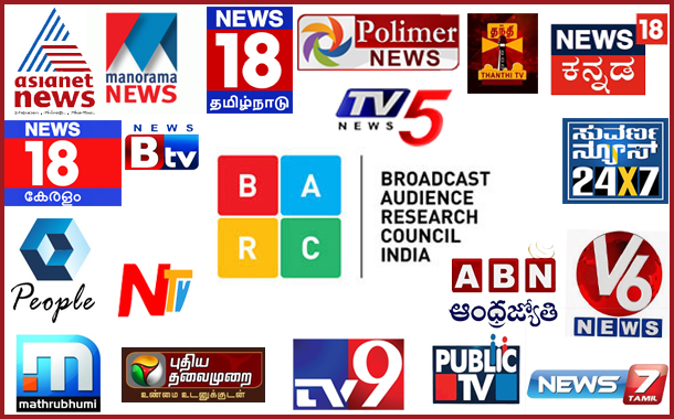BARC Week 49: South Regional News Channels at a glance