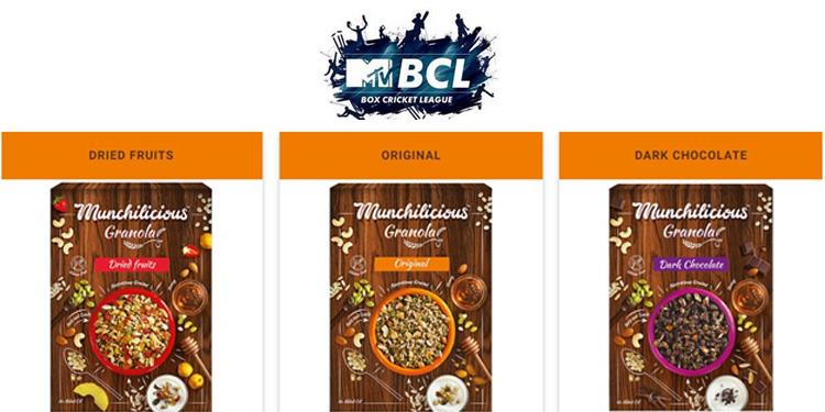 Munchilicious Granola partners Ektaa Kapoor's MTV Box