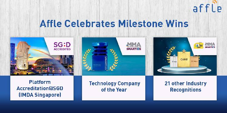 Affle Wins 'Technology Company of the Year' at MMA Smarties along with 21 other Industry Recognitions