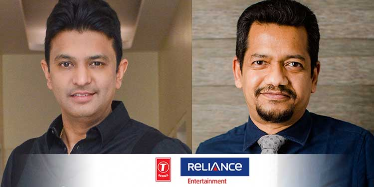 T-Series & Reliance Entertainment Come Together to Produce a Slate of Films  at an Investment