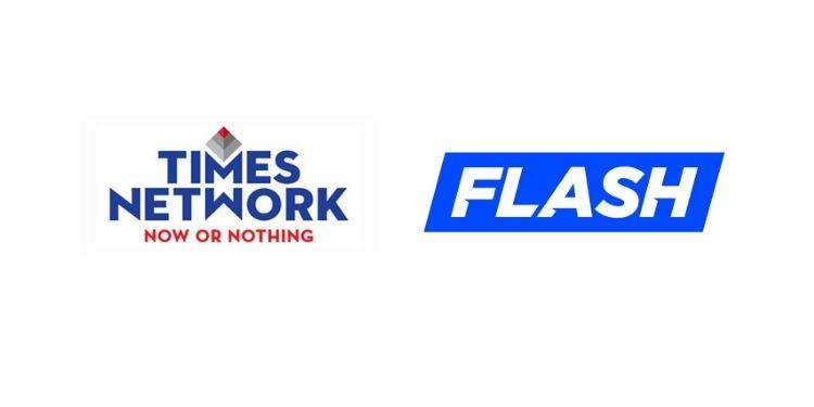 أطلقت شبكة Times Times NOW & ET NOW على خدمة بث الأخبار الأسترالية Flash
